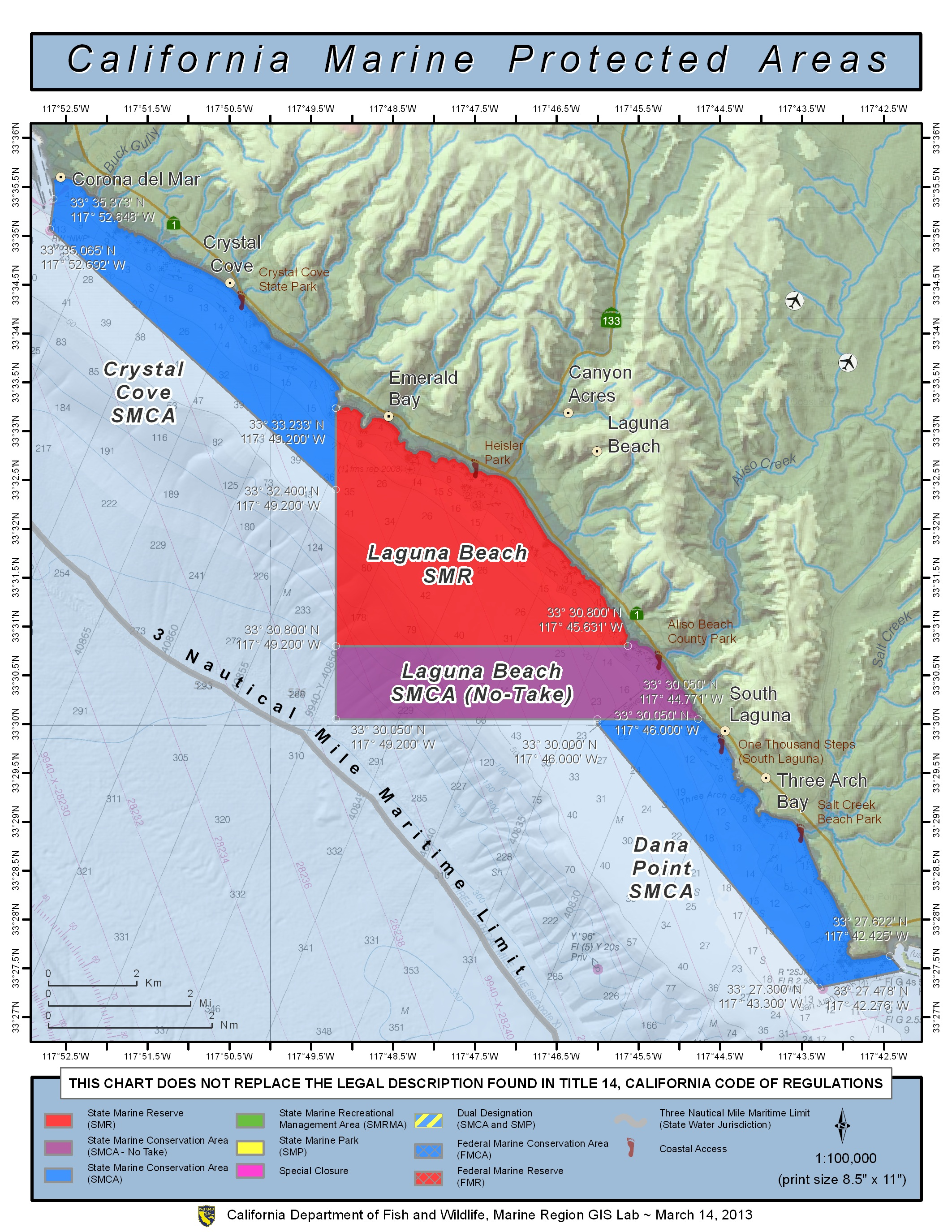 Laguna smr laguna bluebelt working together for a for California fish and game regulations